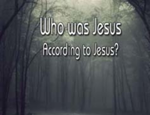 Who Was Jesus According to Jesus?