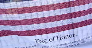 9-11-Flag Names of Victims